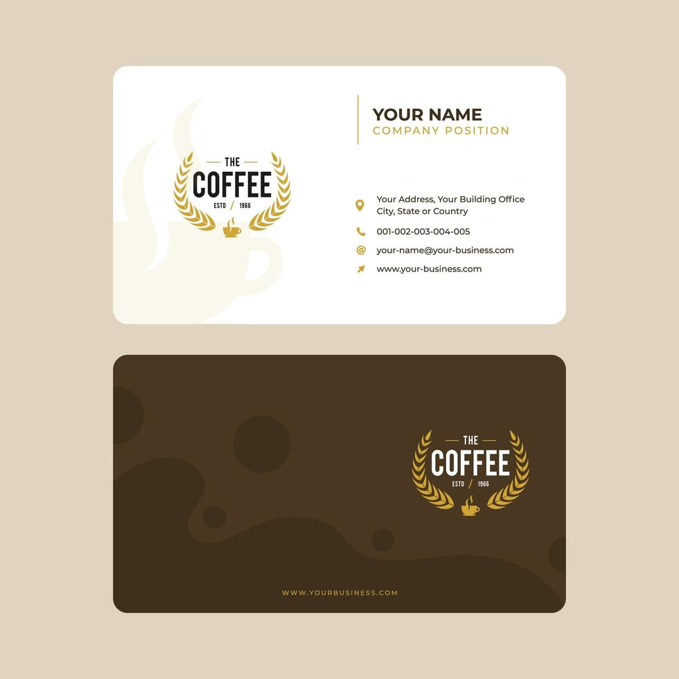 Coffee and Cafe Business Card Template  vector