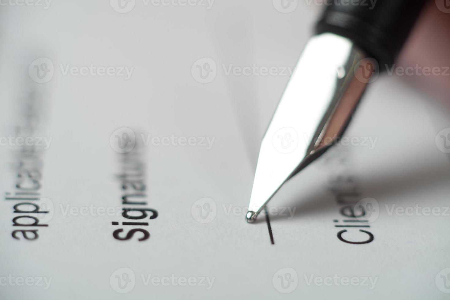 Signature photo