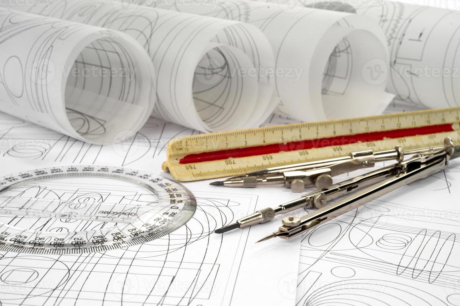 dibujos y herramientas de dibujo foto