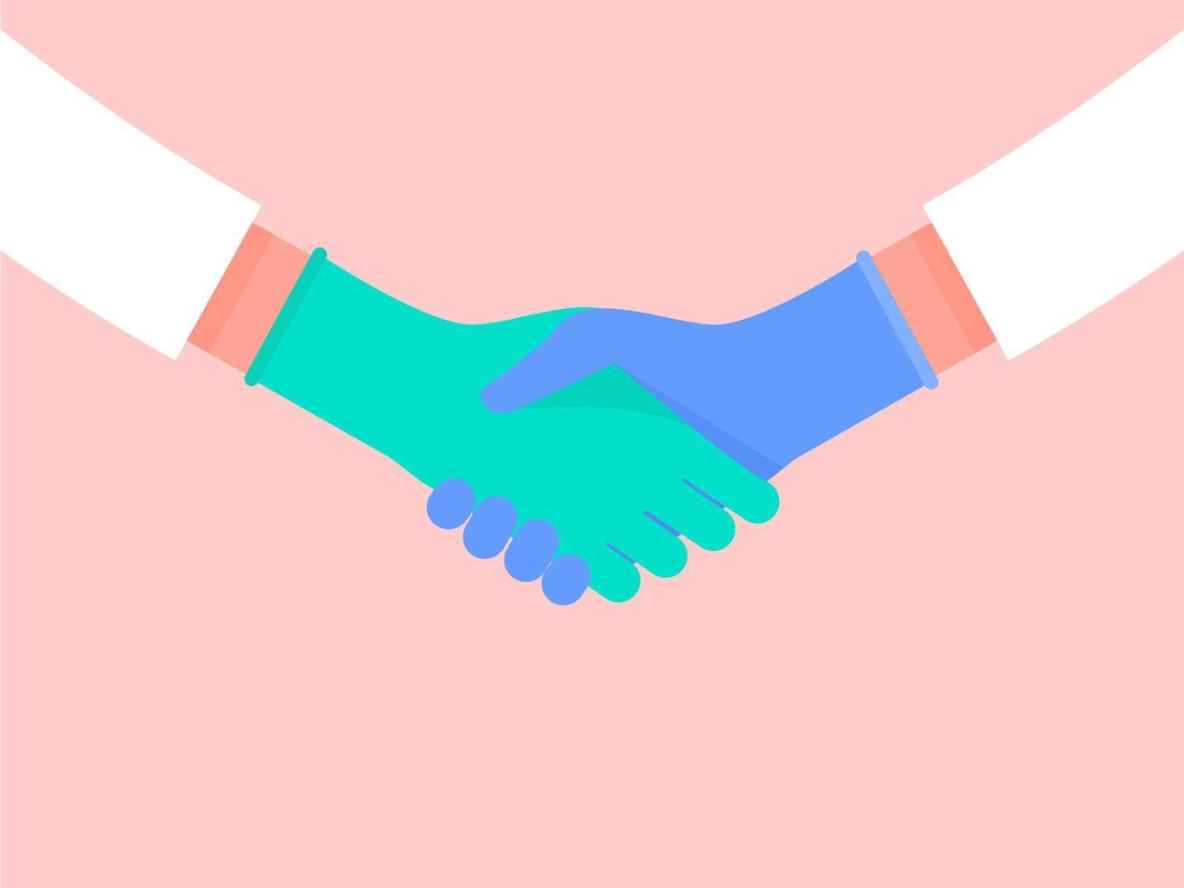Medical Gloves Handshake vector
