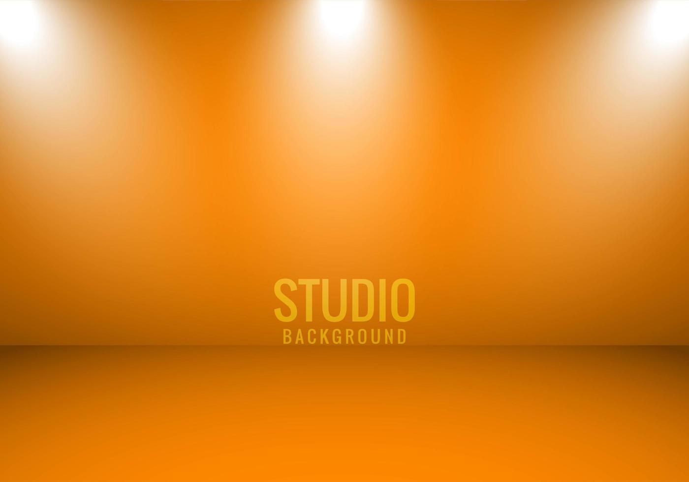Orange Background Studio  with Spotlights vector