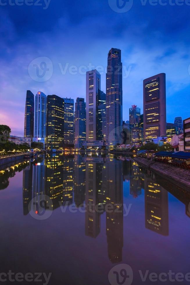 Horizonte de la ciudad de Singapur. foto