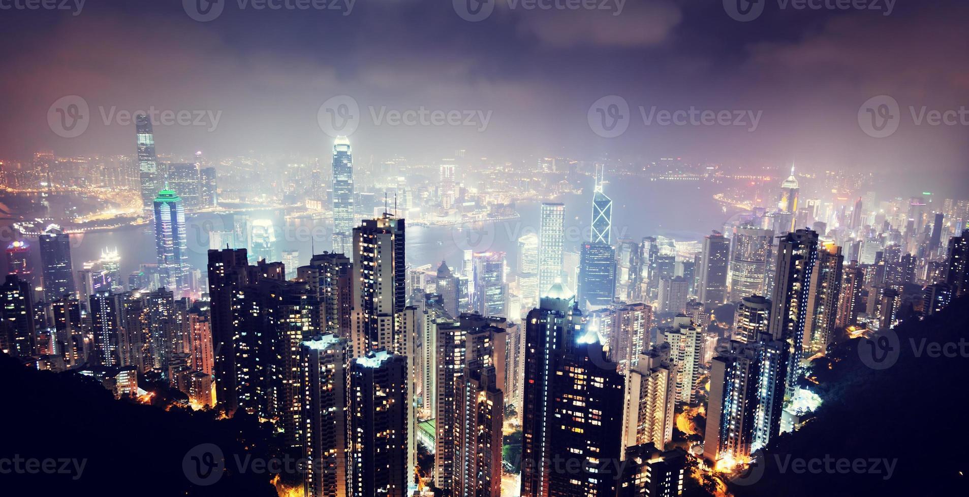 Hong Kong island from Victoria's Peak photo
