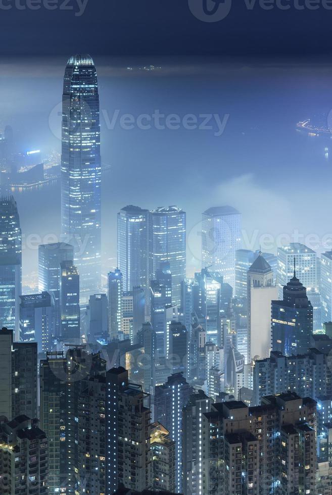 Misty city photo