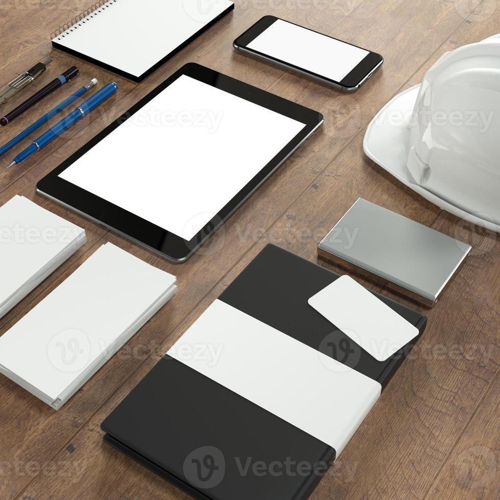 Mockup business template. High resolution. photo