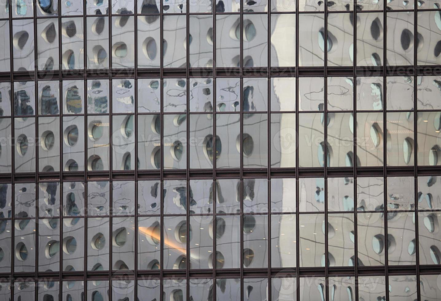 Glass wall around the city in Hong Kong photo