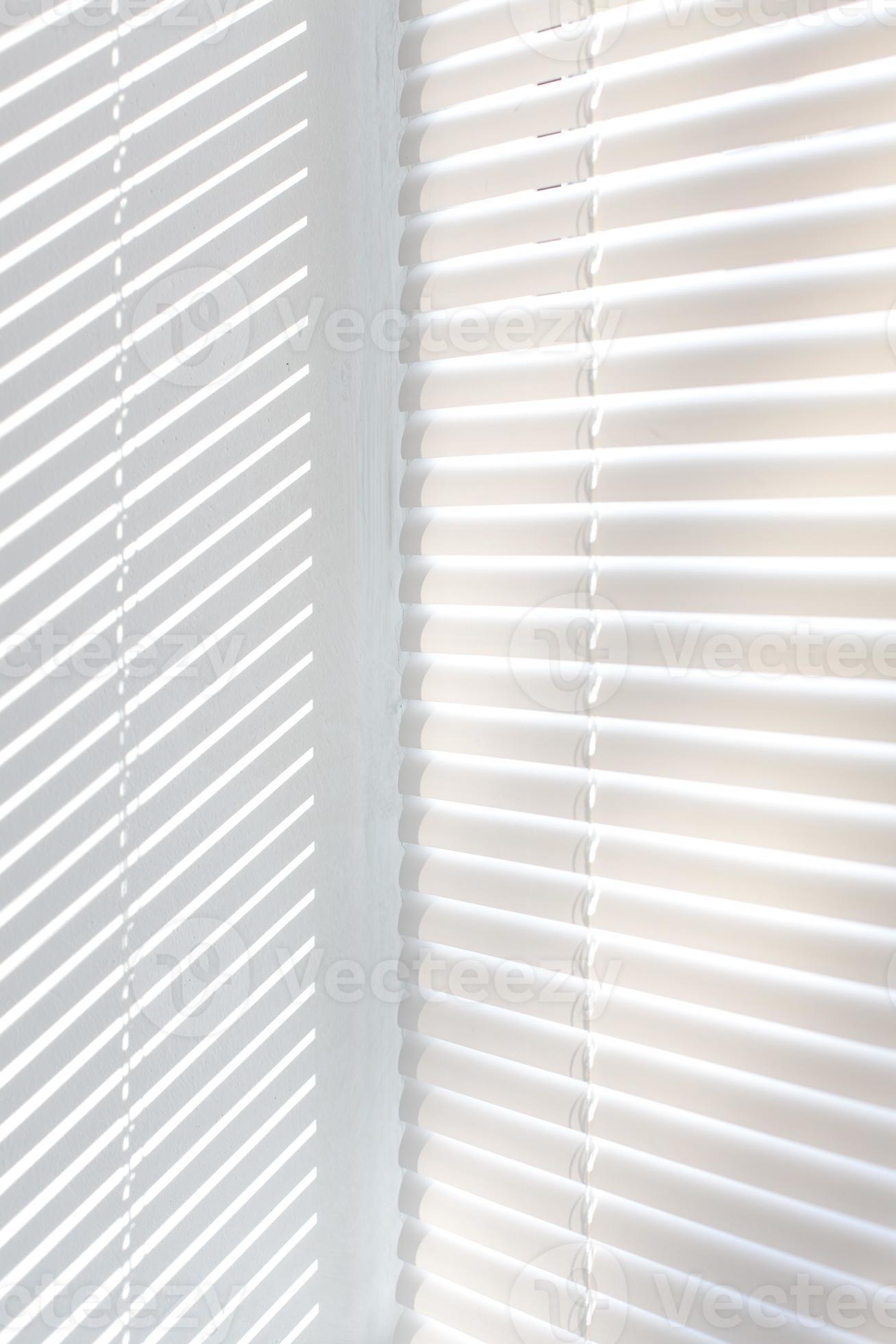 Venetian Blinds Background With Sun Light Stock Photo