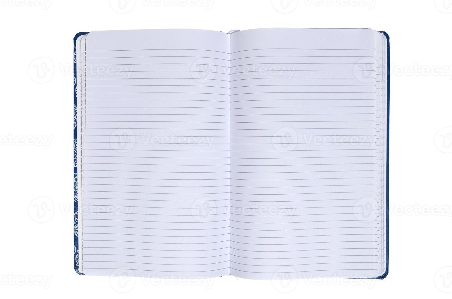 Opened notebook photo
