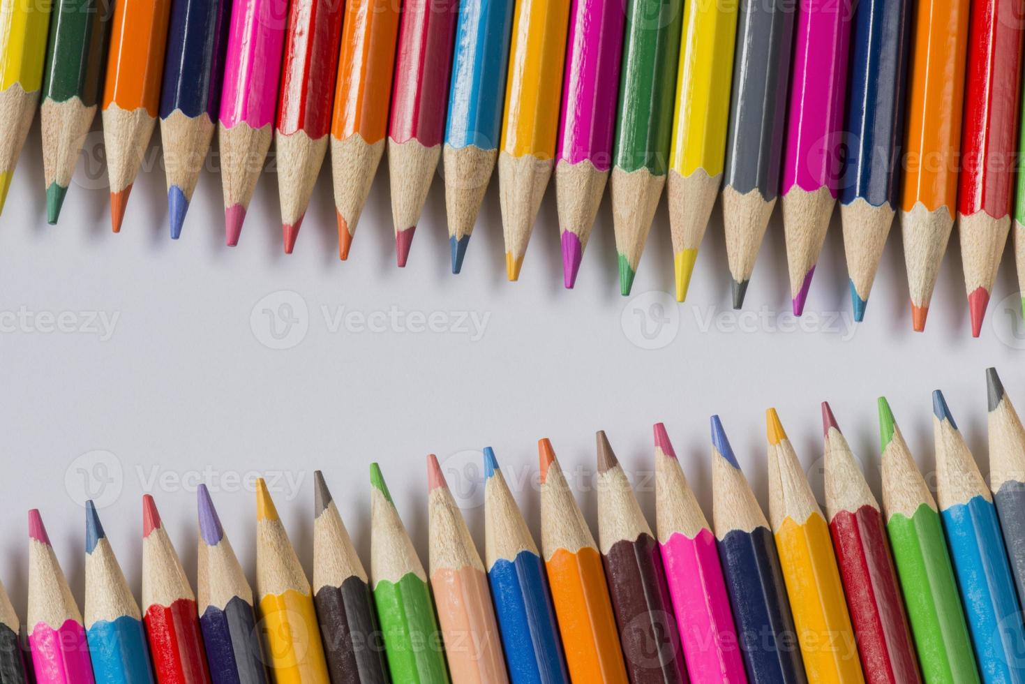 collection of colored wooden pencils. photo