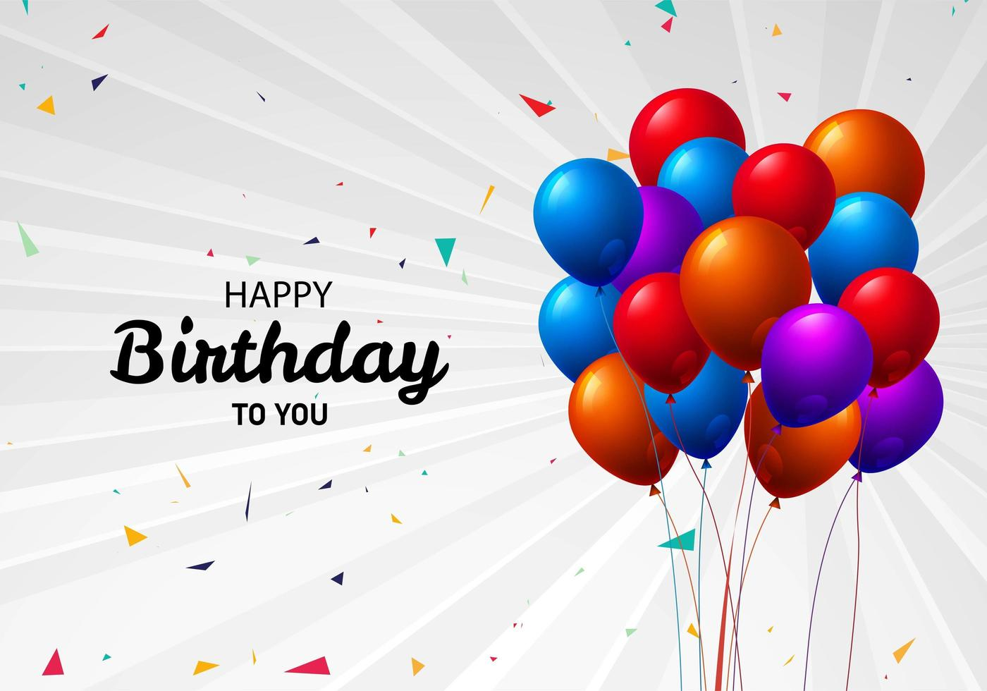 Happy Birthday to You Balloon Greeting  vector