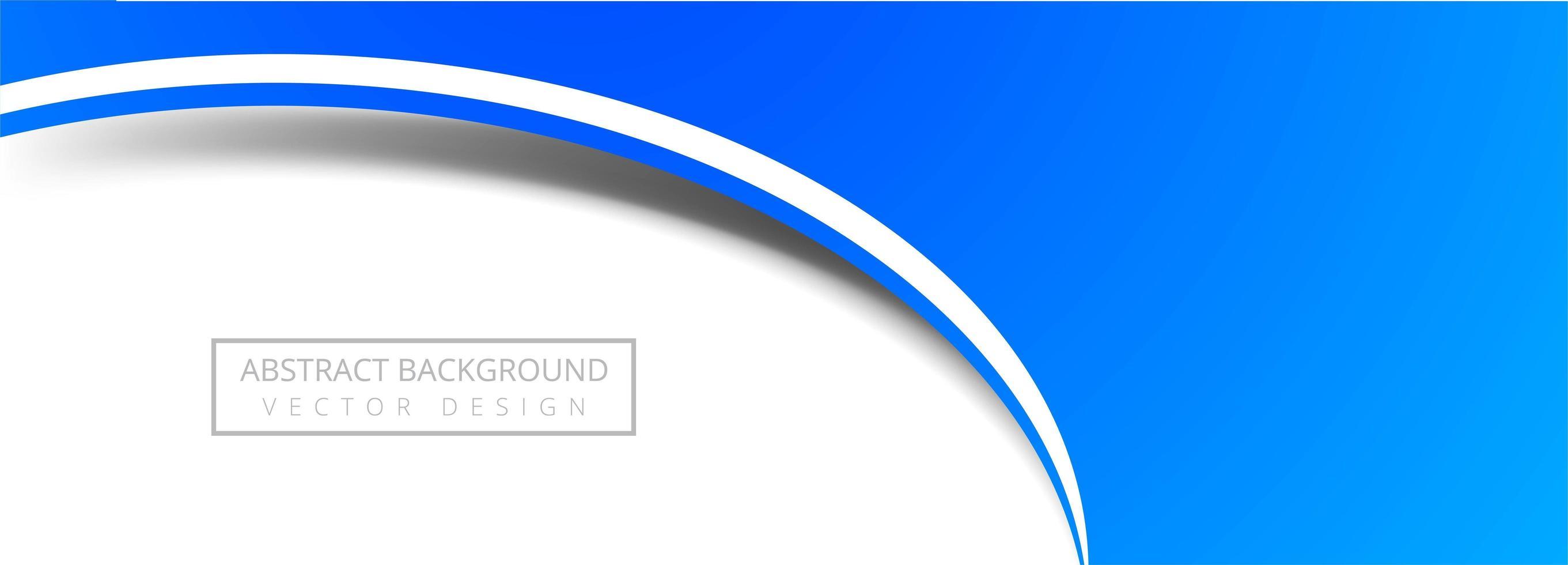 Modern Blue Circle Banner vector