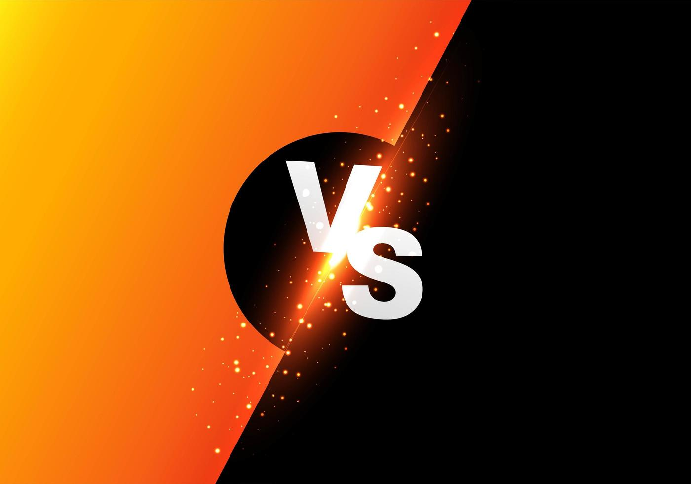 Versus Screen Bright Contrast Background  vector