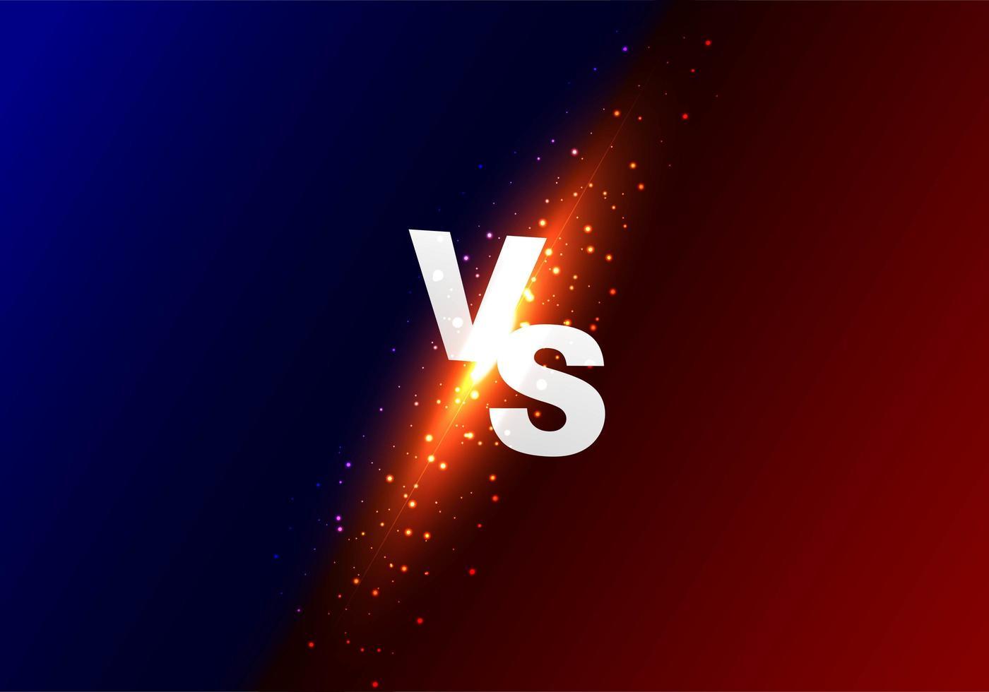 versus fondo degradado brillante vs vector