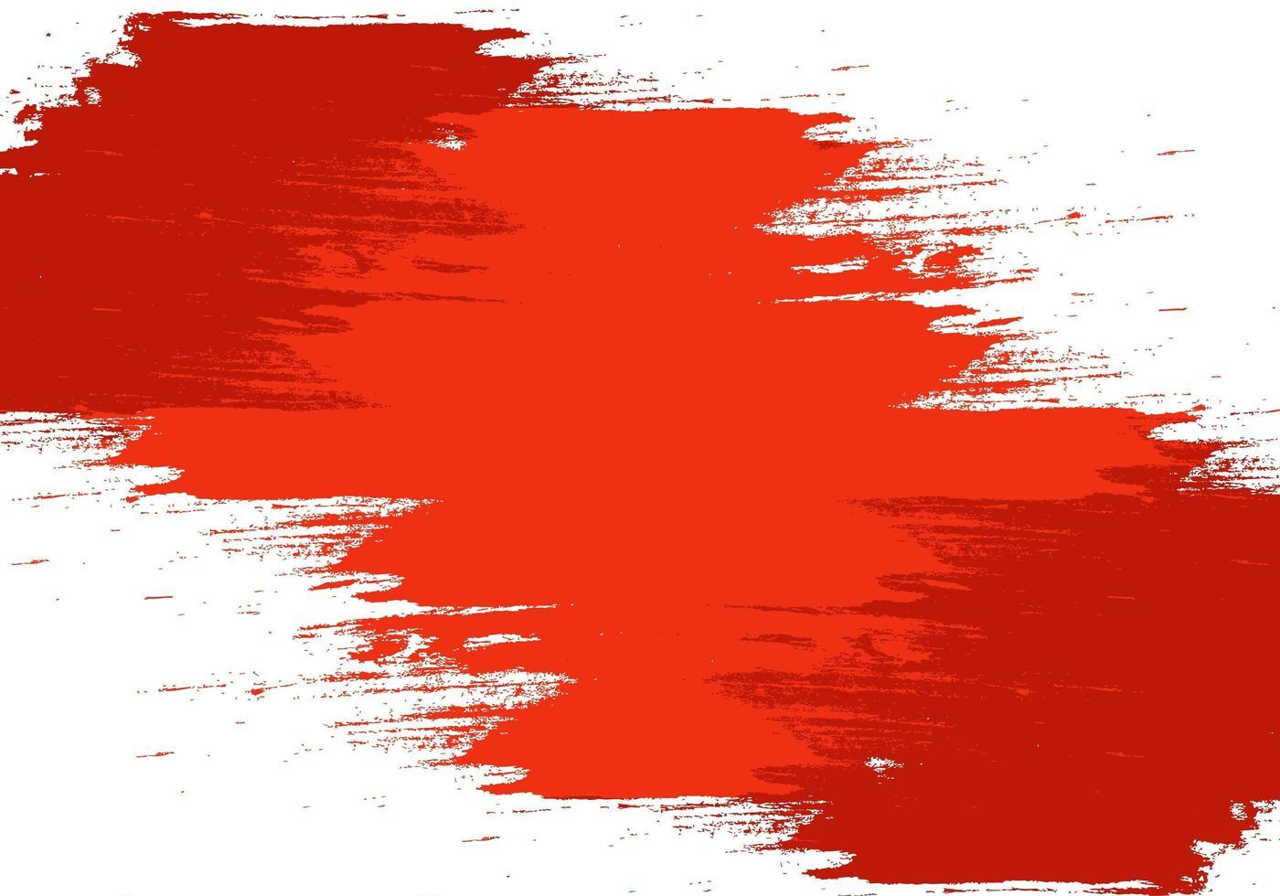 textura de pincelada roja abstracta vector