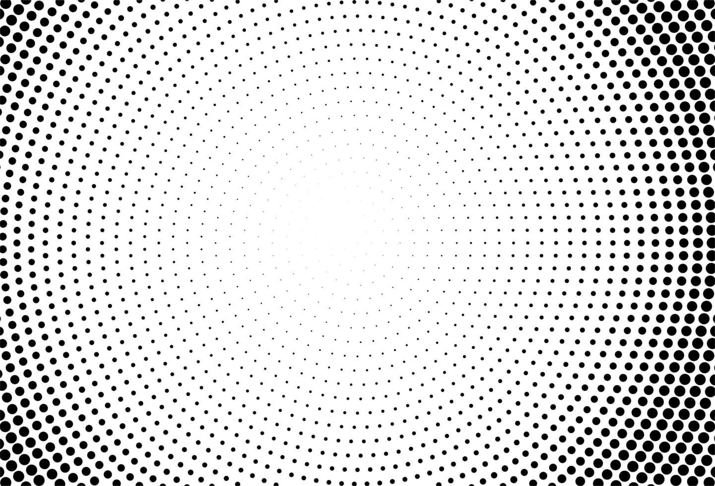 círculos abstractos fondo de puntos negros vector