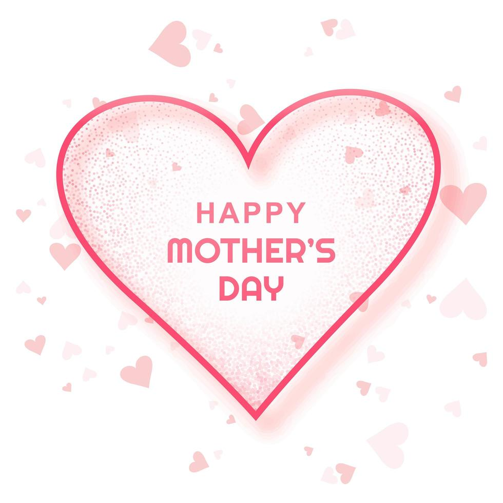 Happy Mother's Day Card Simple Heart Background  vector