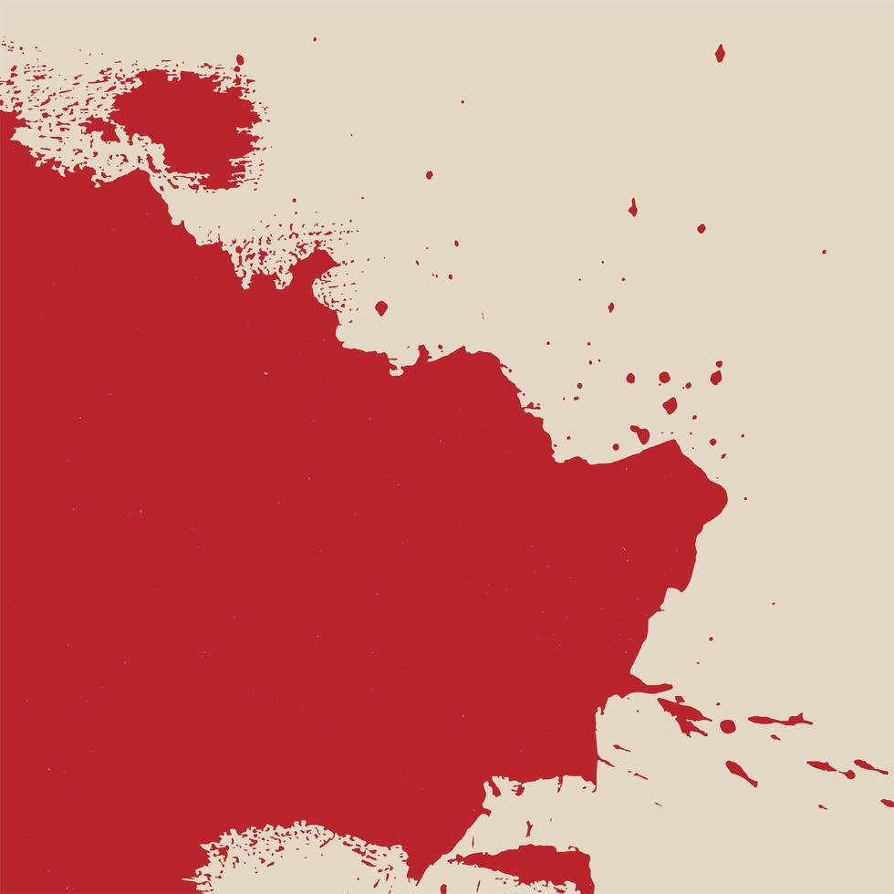 textura de mancha de pintura roja abstracta vector