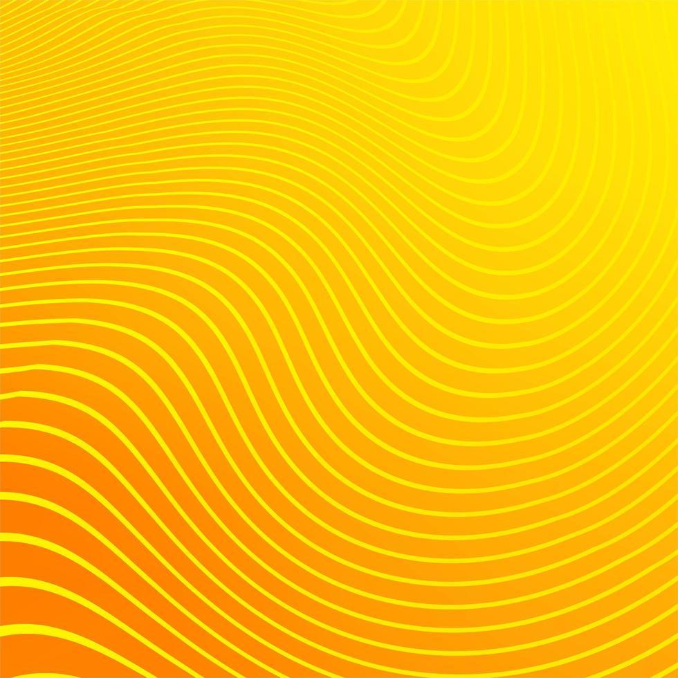 fundo de linha amarela de listras modernas vetor