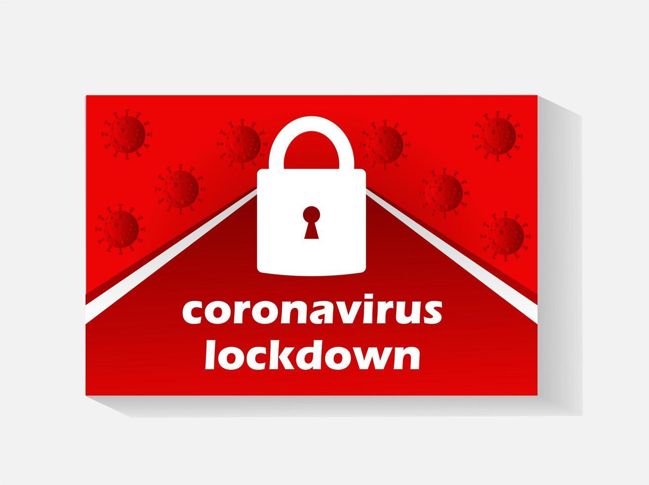 símbolo de bloqueio global do coronavírus vetor