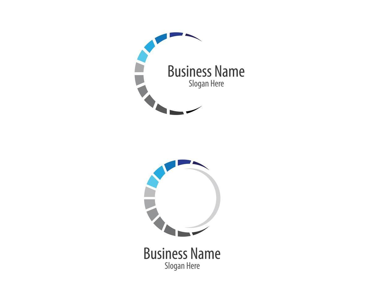 conjunto de logotipo de negócios do círculo vetor