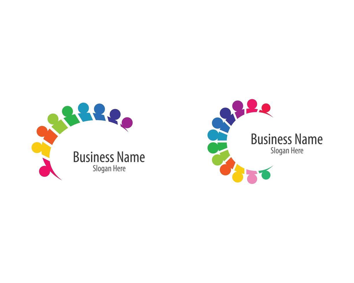 conjunto de plantillas de logotipo comunitario vector