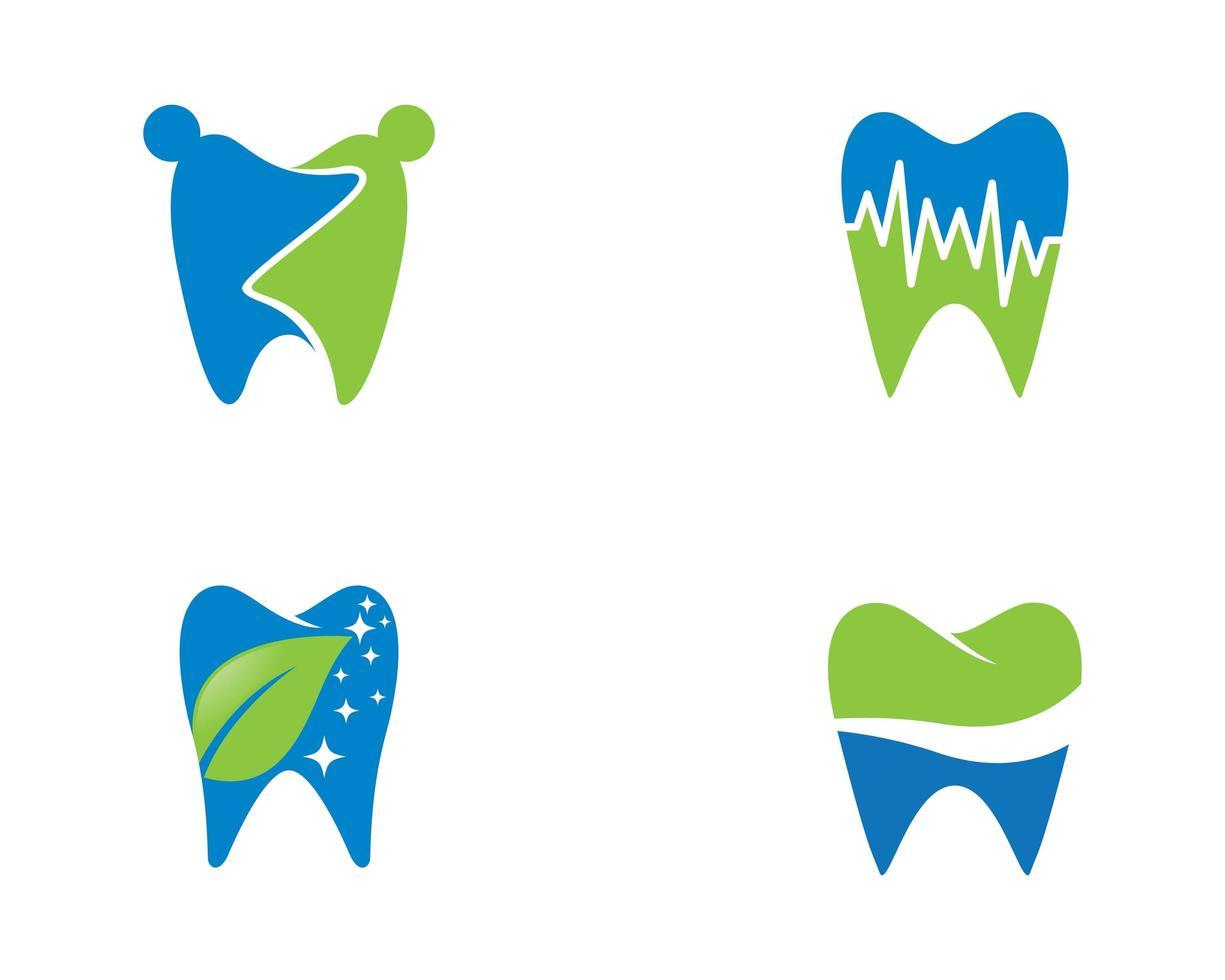 conjunto de logotipo dental vector