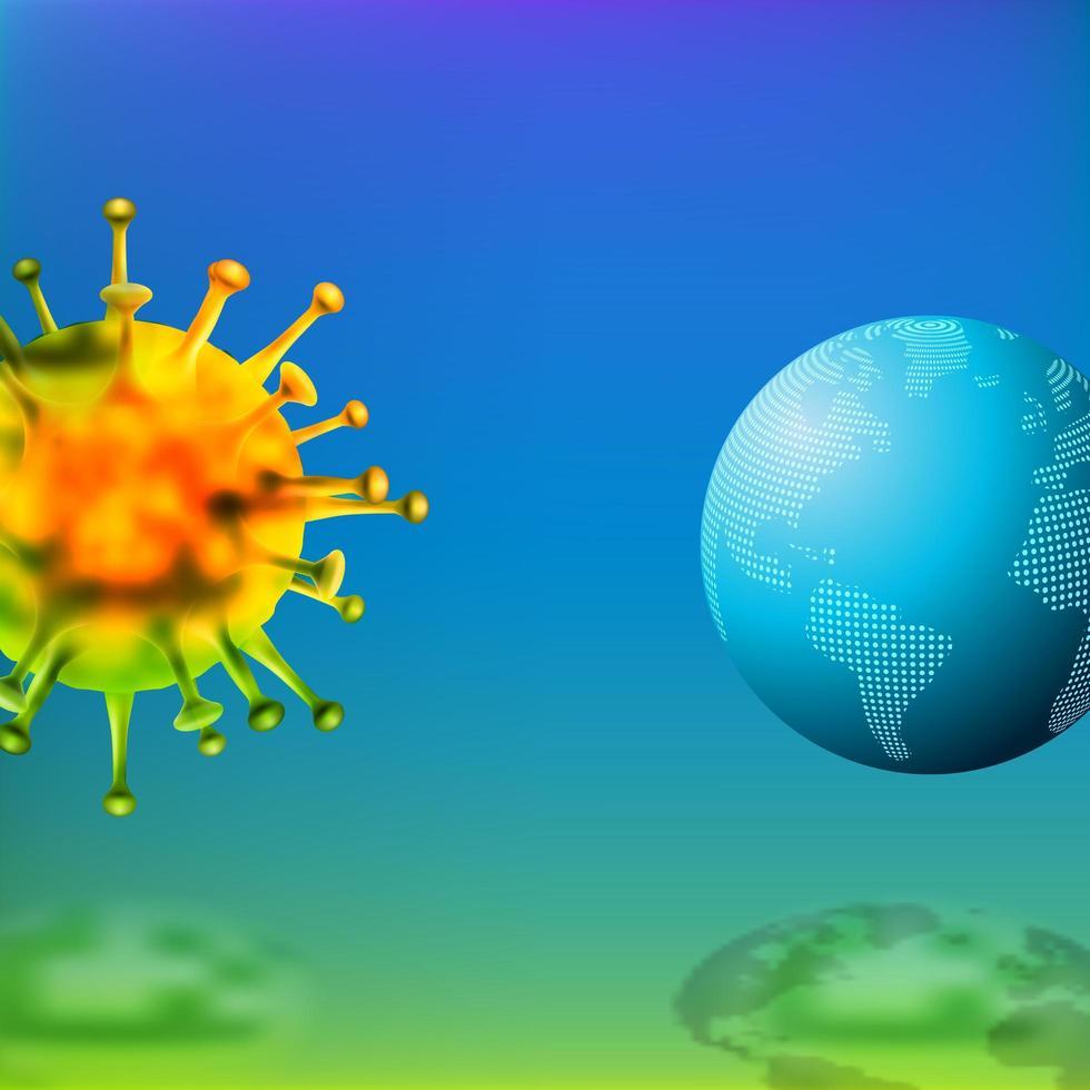 perigo de epidemia mundial devido ao coronavírus vetor