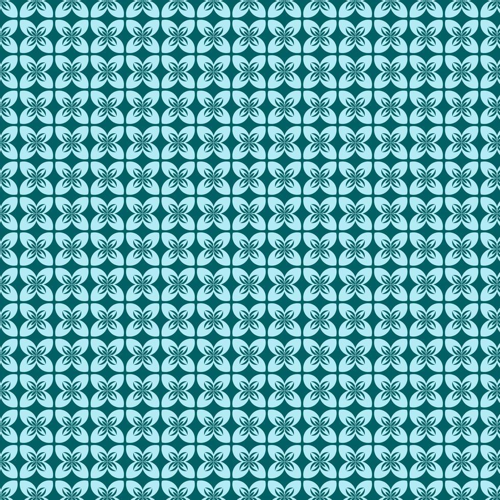 patrón de forma de flor azul cian vector