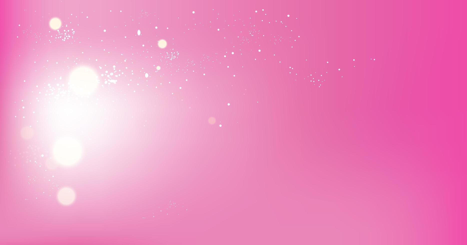 Pink Glowing Bokeh Background vector