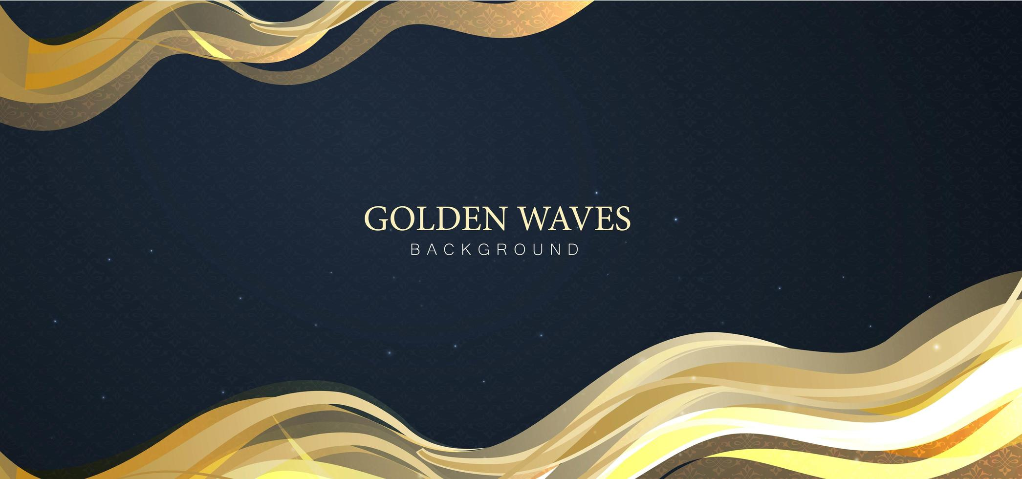 Golden Waves Abstract Background vector