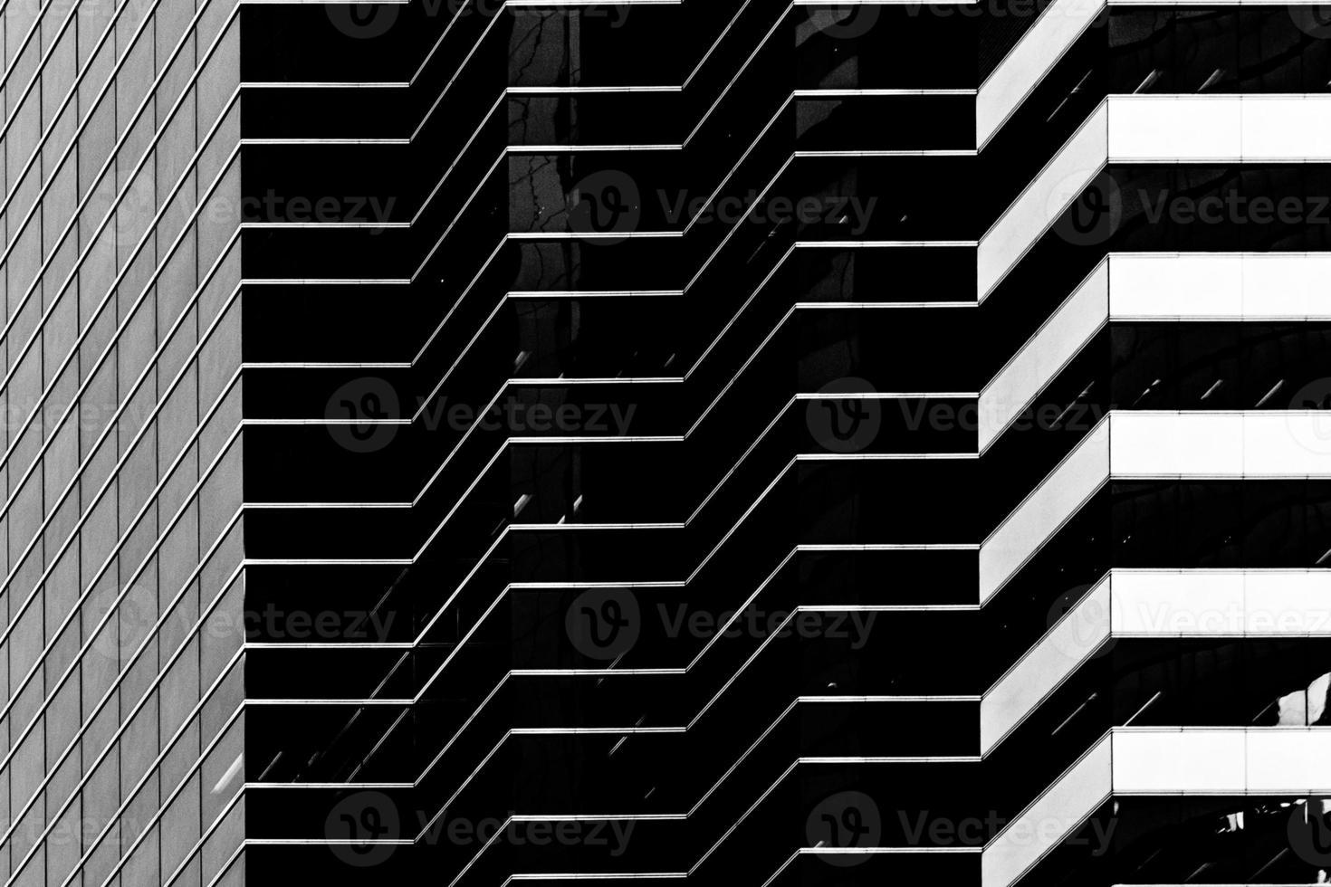 arquitecturas comerciales modernas b & w foto