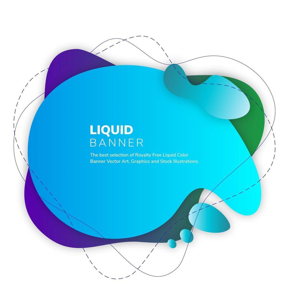 Blue Green Fluid Color Background vector