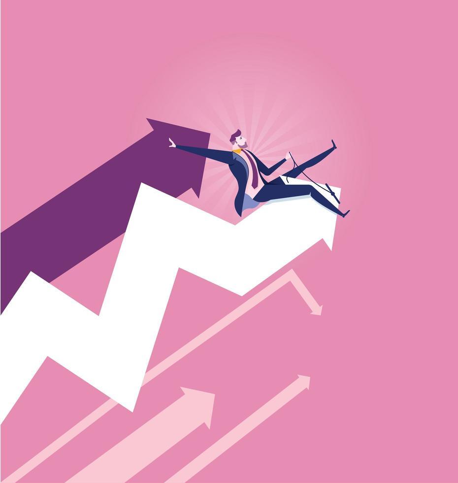 gráfico de rodeio de empresários - conceito de mercado de ações vetor