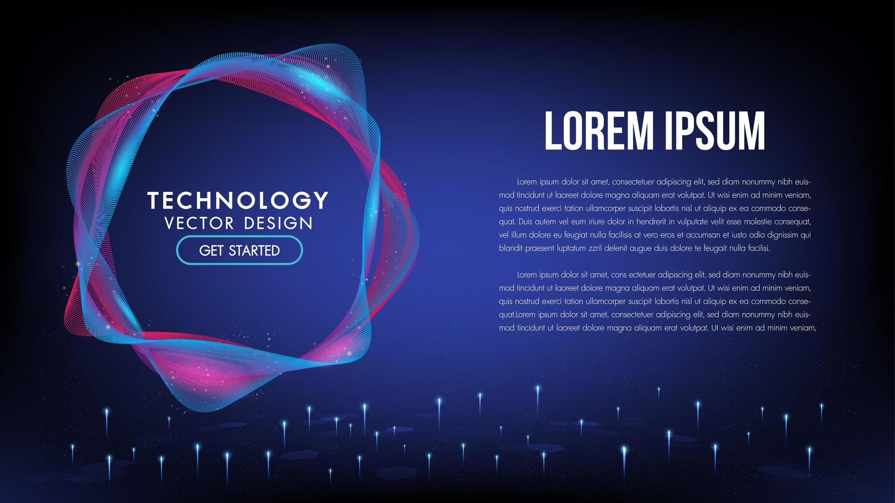 Abstract technology background concept communication vector
