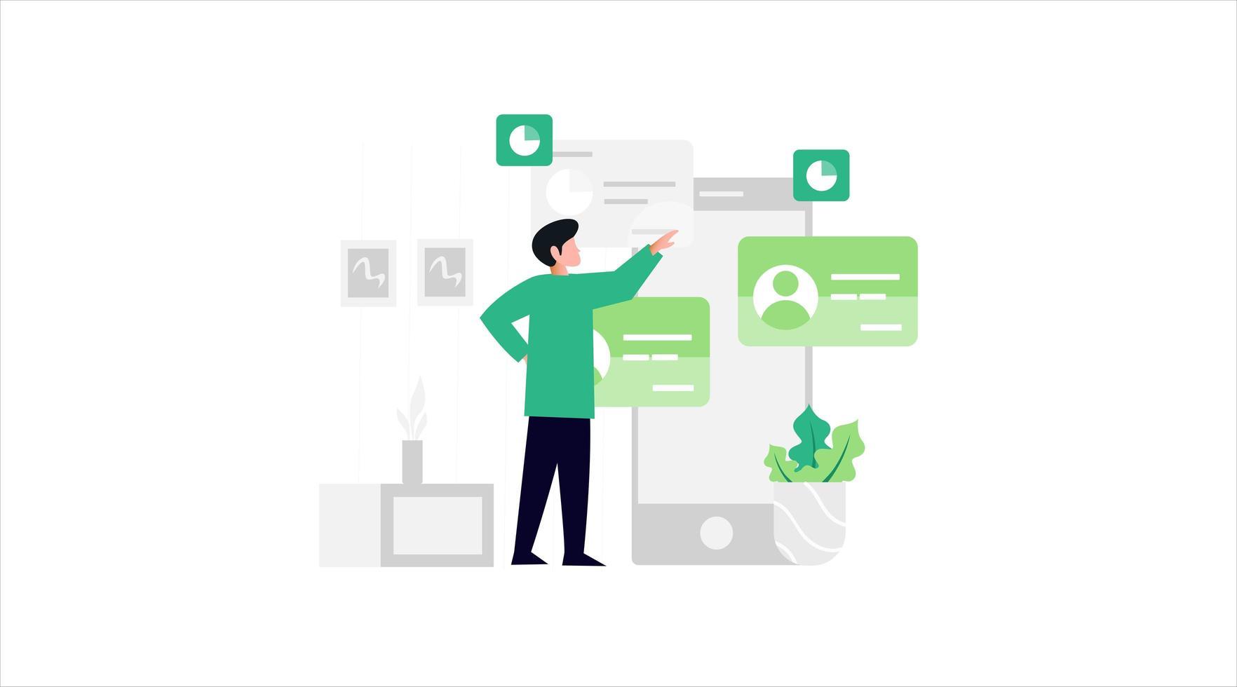 conceito de comunicação de internet para banner, design de site ou página da web de destino vetor