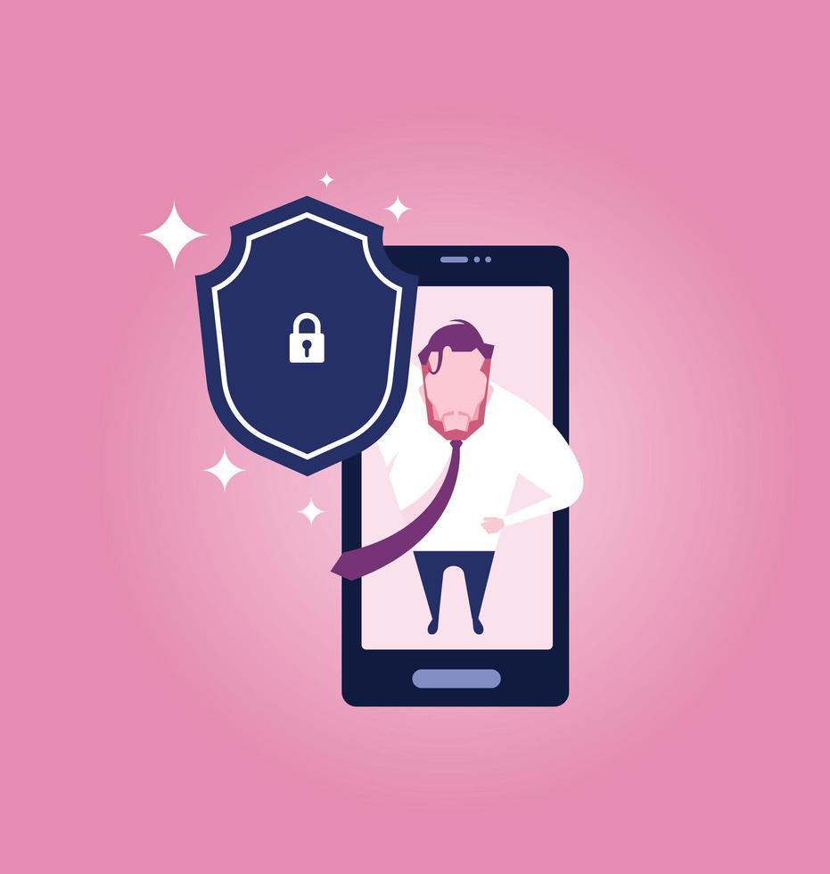 concepto de seguridad de internet empresarial vector
