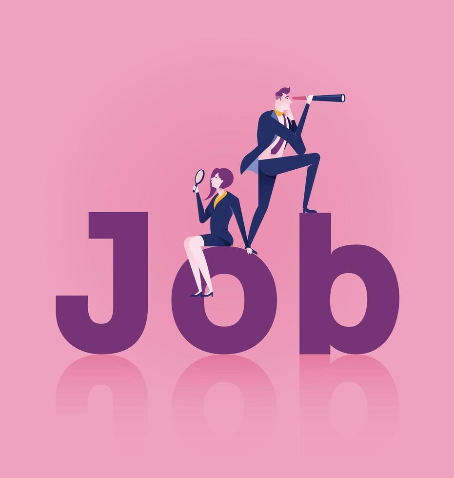 procurando por um conceito de emprego vetor