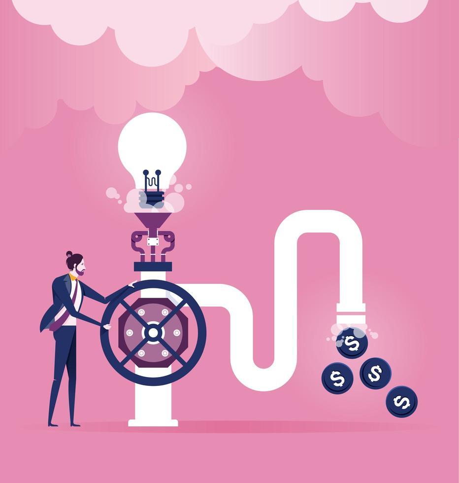 conceito de idéia criativa do cérebro vetor