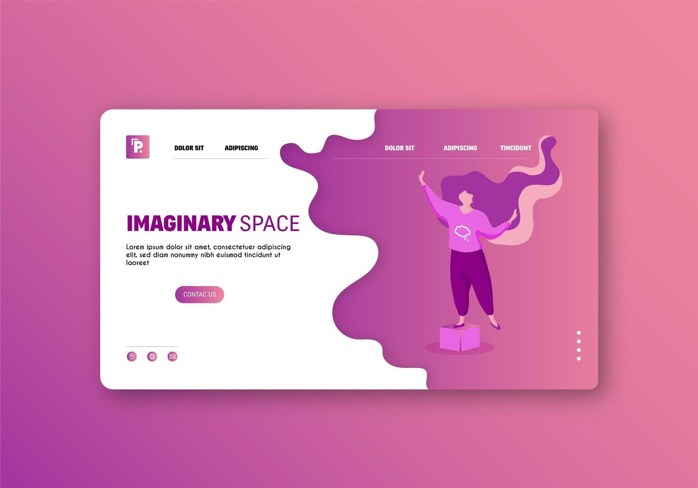Land Page Website vector