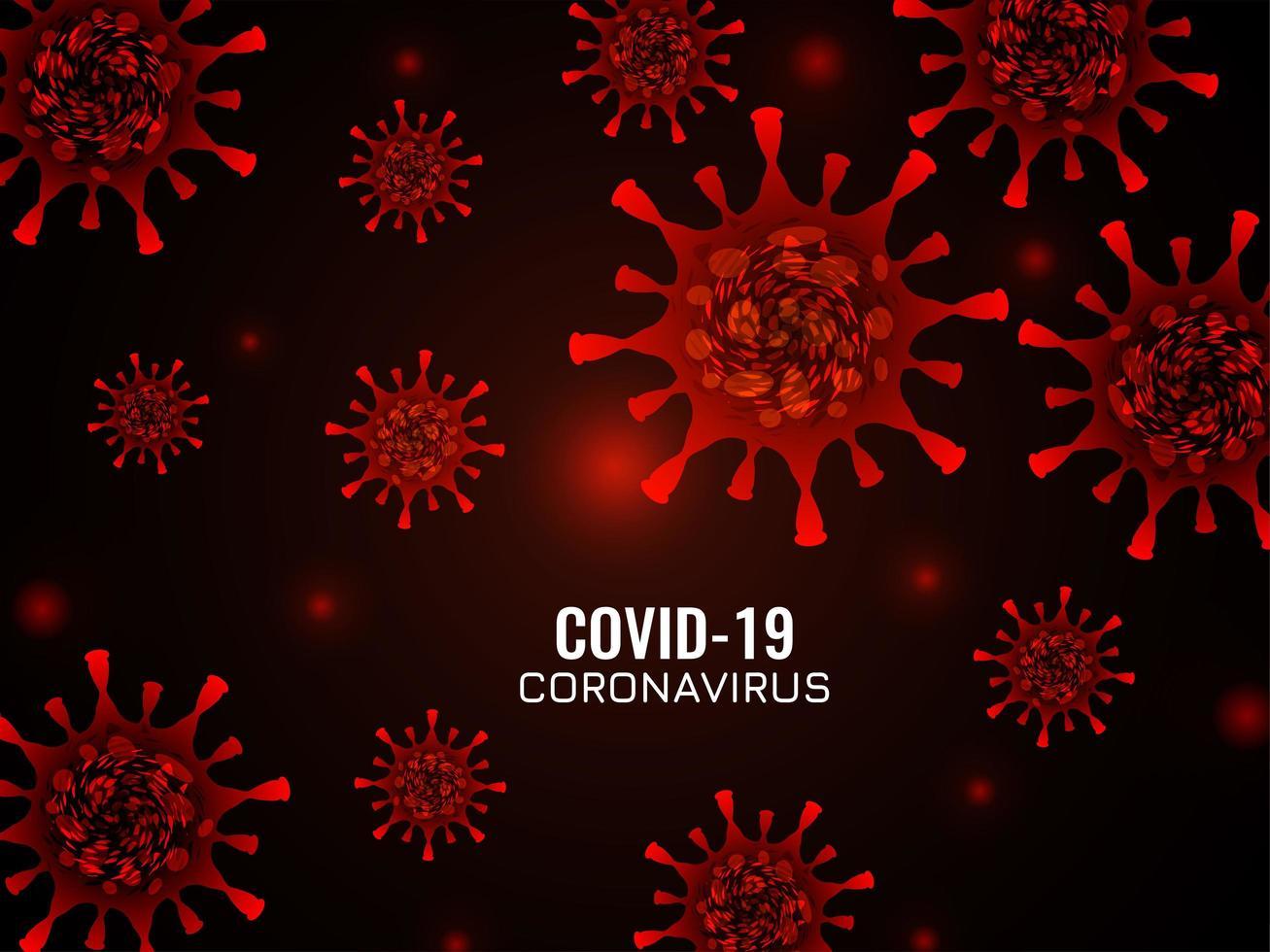 Fondo de coronavirus de color rojo abstracto vector