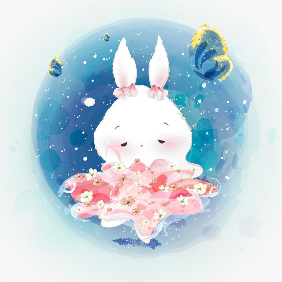 Bunny Ballerina Dancer  vector