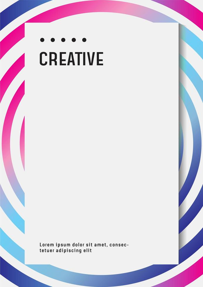 Holographic poster design template for business or company document vector