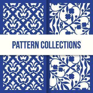 colección floral de patrones sin fisuras vector