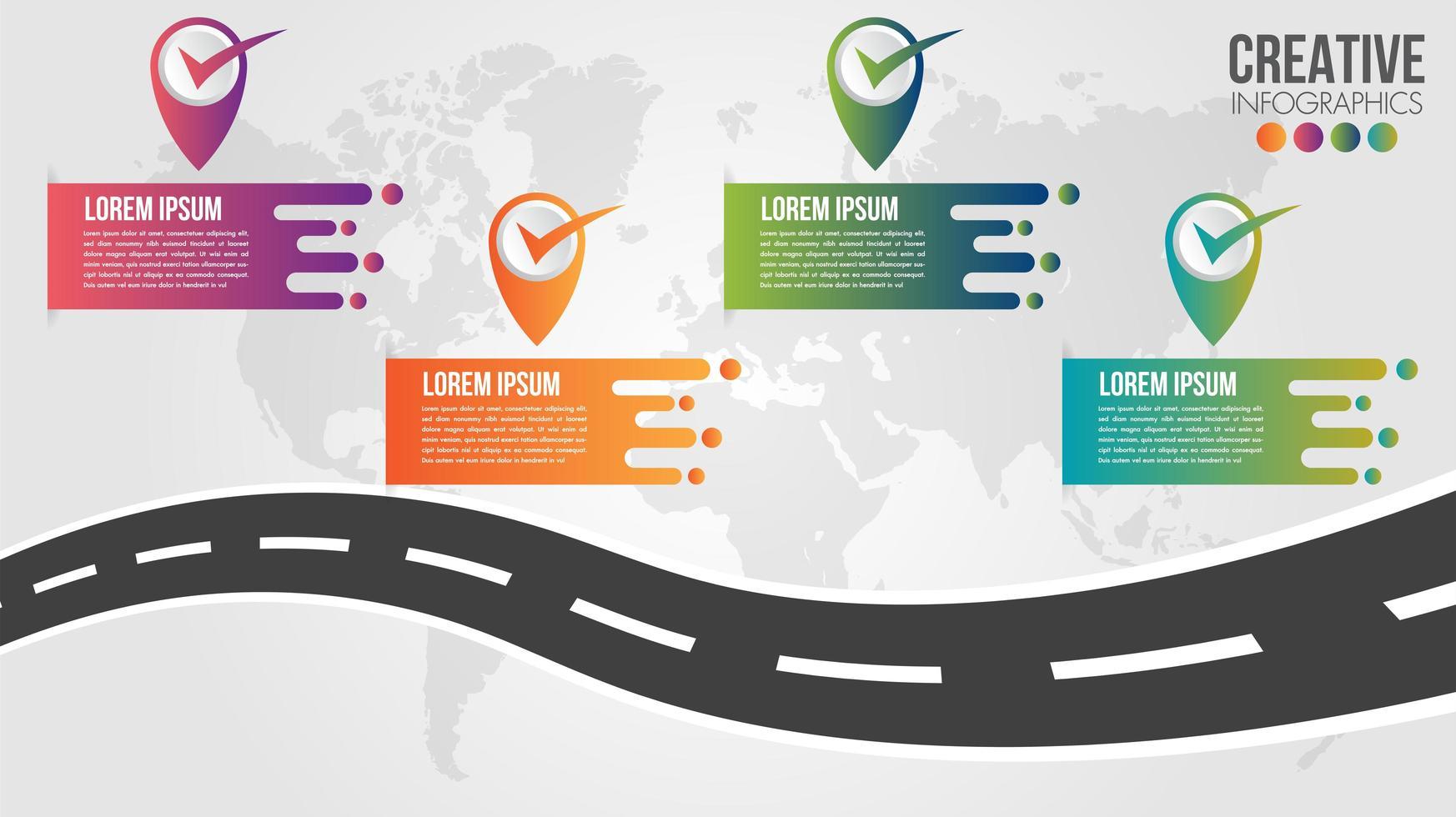 Business Infographic Roadmap timeline design template   vector