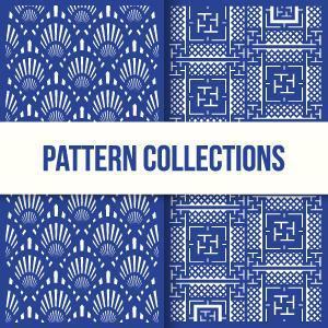 Seamless Pattern Two Door Design Collection vector