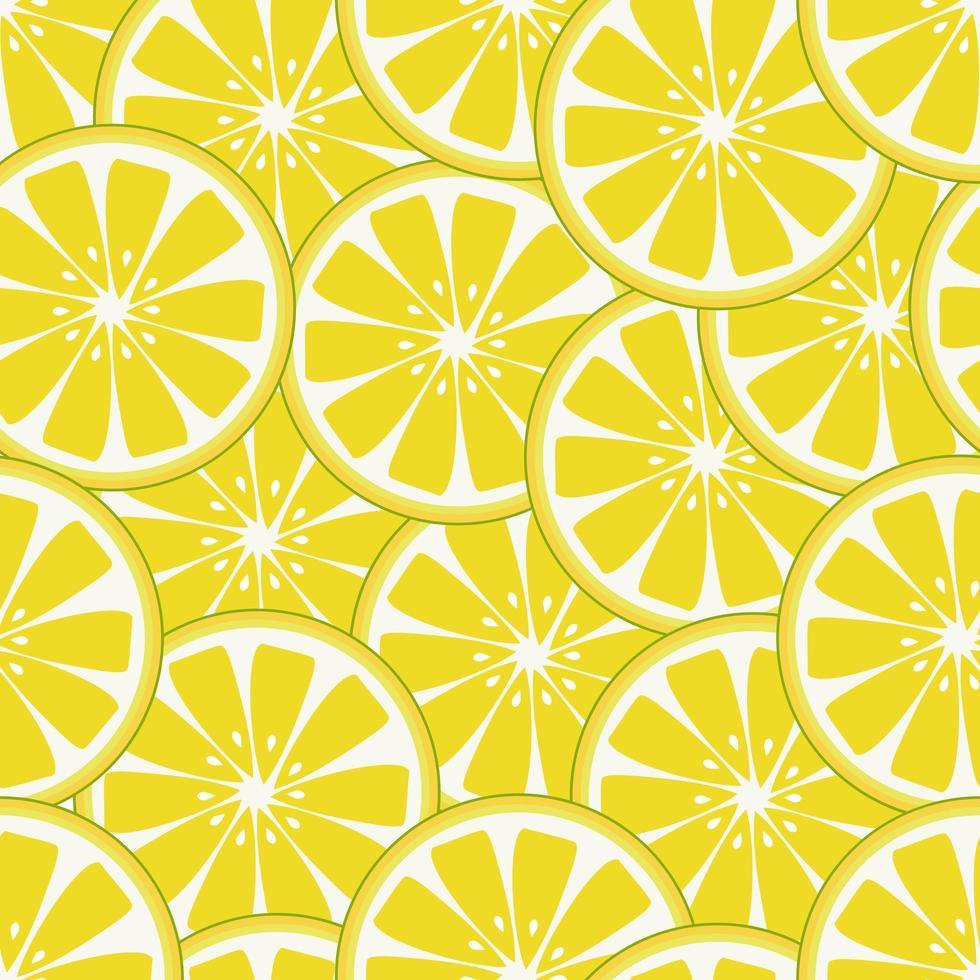 patrón de rodaja de limón fresco vector