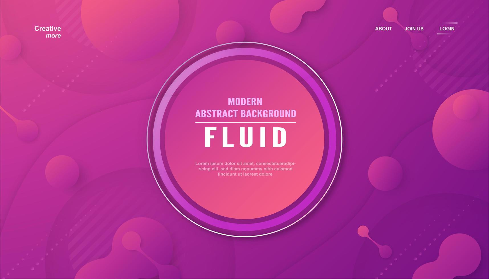 Modern abstract background in fluid style.  vector
