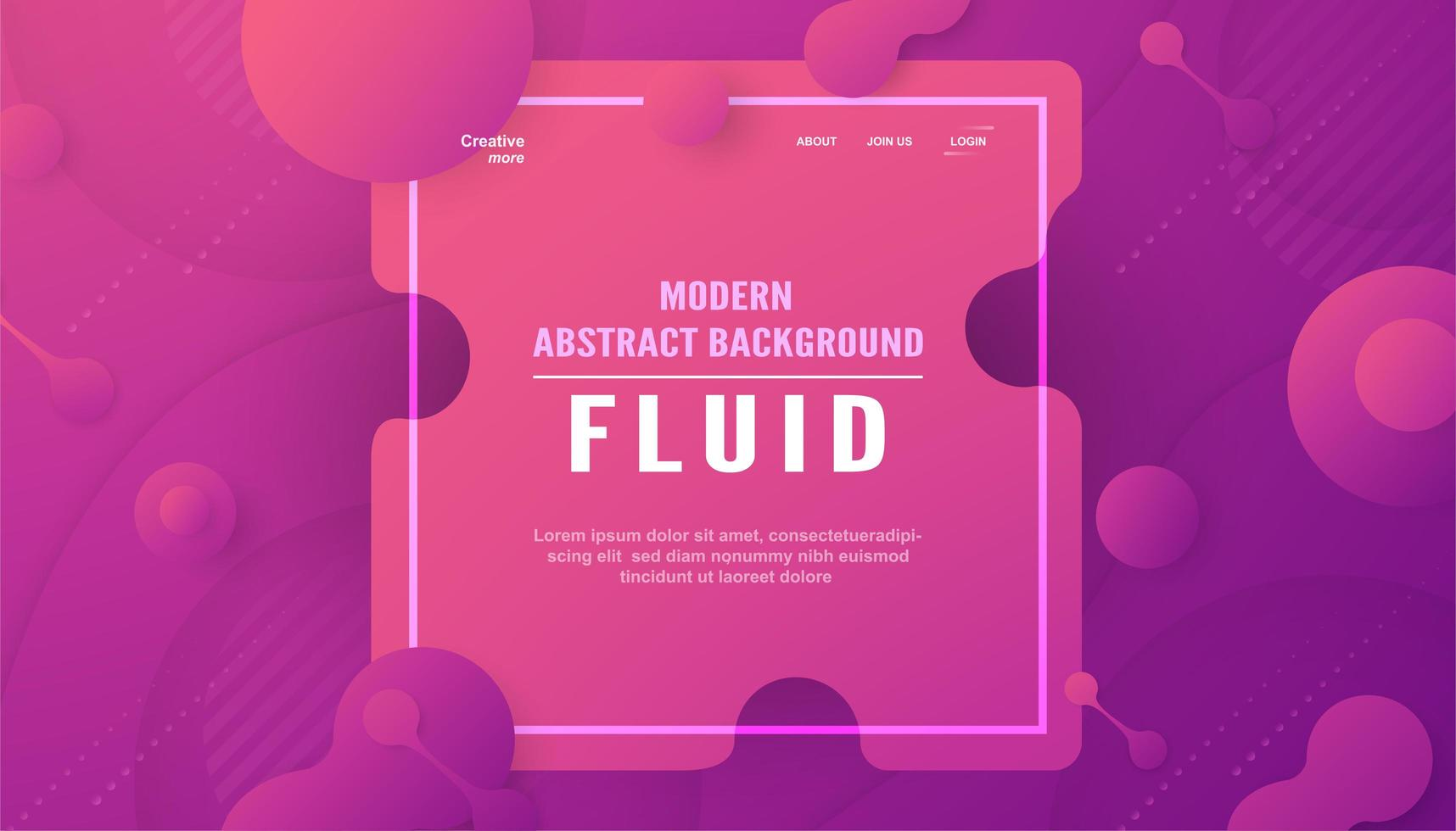 Modern abstract background in liquid and fluid style vector