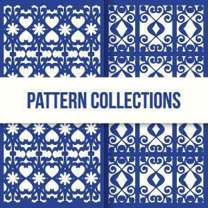 conjunto de padrão de textura de mosaico marroquino vetor