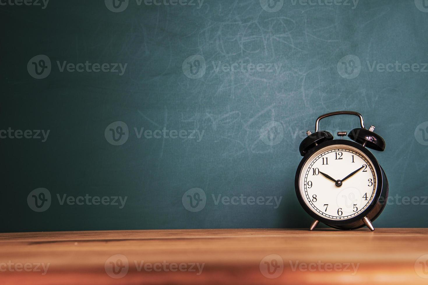 Concept of education or back to school on green background photo